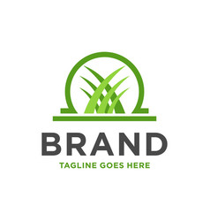 Grass logo design vector