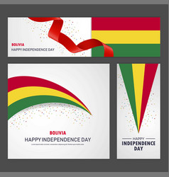 Happy bolivia independence day banner and vector