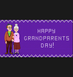 happy grandparents day greeting card for grandma vector image