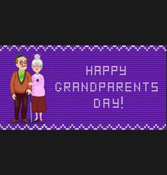 Happy grandparents day greeting card for grandma vector