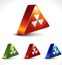hazard icon vector image