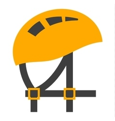 Helmet element safety tool vector image