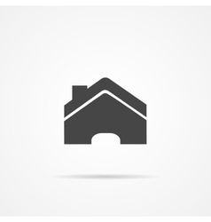 Home flat icon on the grey background vector image