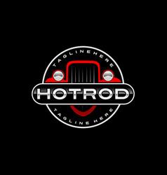 Hot rod logo template vector