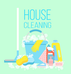 house cleaning cleaning vector image