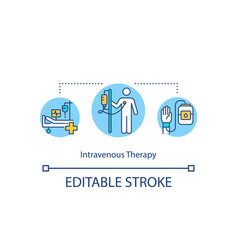 Intravenous therapy concept icon vector