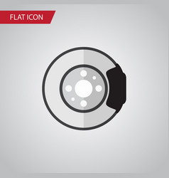 isolated brake disk flat icon metal vector image
