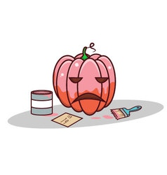 isolated cartoon pink pumpkin for valentine vector image