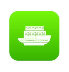 large passenger ship icon digital green vector image