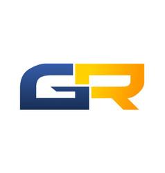 Letter gr modern vector