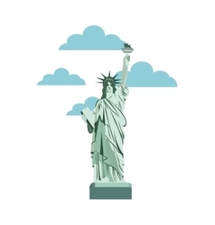 liberty statue new york isolated icon vector image