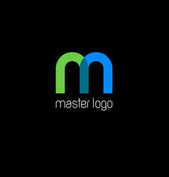 m monogram master logo vector image