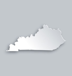 Map of Kentucky vector image