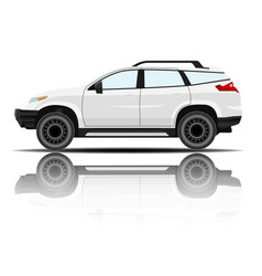 modern car white color white background ima vector image