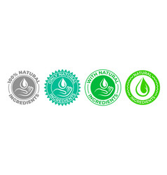Natural ingredients product icon green organic vector