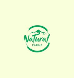 Nature green with mountain logo designs vector
