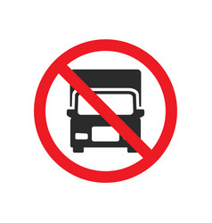 no truck allowed sign vector image