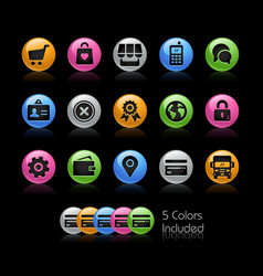 online store icons - gelcolor series vector image