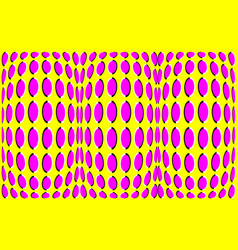 Optical illusion clipart with bright colors vector
