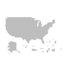 Pixel map of usa territories dotted map of usa vector