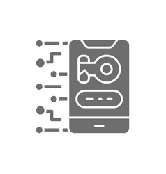 Privacy phone with key personal protection vector