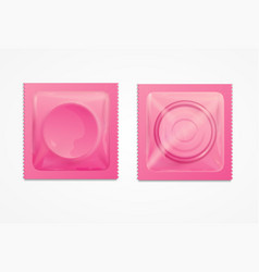 Realistic 3d detailed condoms package vector