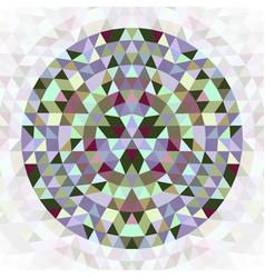 Round triangle kaleidoscope mandala design symbol vector