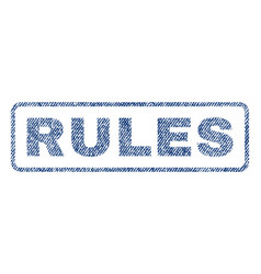 Rules textile stamp vector