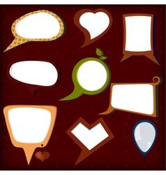 Set of colors speech bubbles vector image