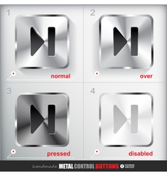Set of four positions of Circle Metal Skip to the vector image