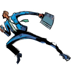 Side view of man running vector image