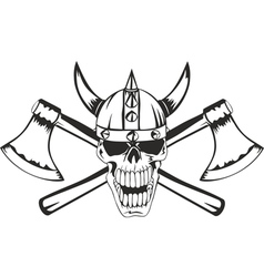 Skull and axes vector