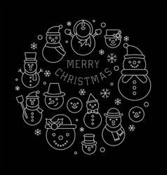 snowman icon on background for christmas holidays vector image