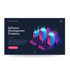 Software development company web vector