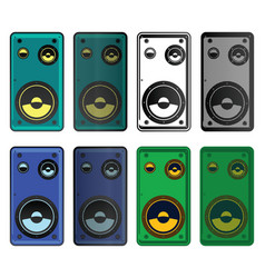 Speakers mini set vector