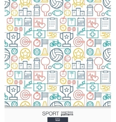 Sport and fitness wallpaper Game connected vector image