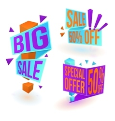 Three sale banners vector image