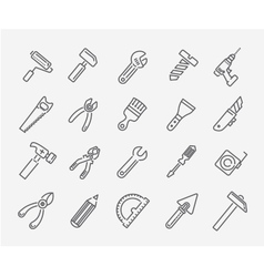 tool icon collection vector image