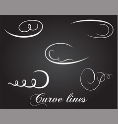 Typographic design elements and curve lines vector