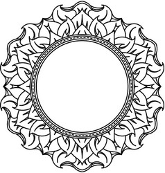 Unusual hexagonal lace frame decorative element vector