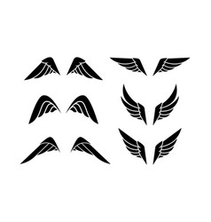 wing logo emblem in simple style vector image