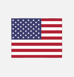 wyoming map on american flag vector image