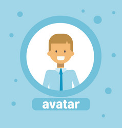 young man avatar businessman profile icon user vector image