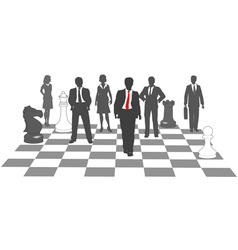 Business people chess team win game vector image vector image