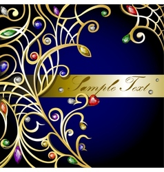 gold jewerly background vector image