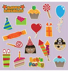 party stickers vector image vector image