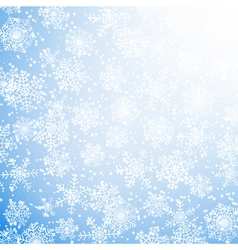 winter sun with snowflakes vector image vector image