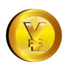 yen money gold icon vector image