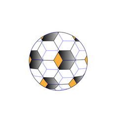 abstraction of a soccer ball 3d simulation vector image