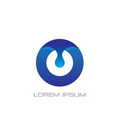 circle waterdrop business logo vector image